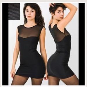 American Apparel Black Mesh Mini Dress